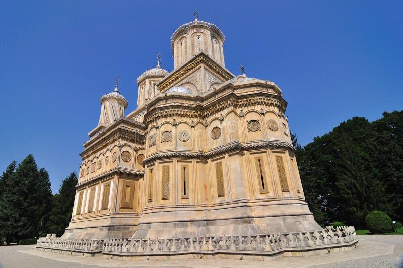 Monastério ortodoxo romeno imagem de stock