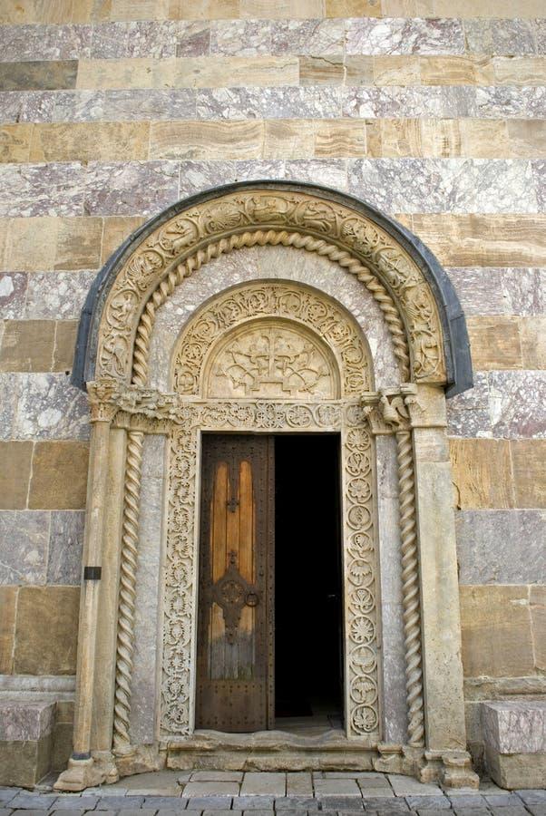 Monastério ortodoxo sérvio de Visoki, Decani, Kosovo imagem de stock royalty free