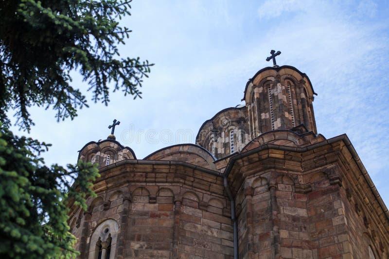 Monastério ortodoxo sérvio Manasija fotos de stock