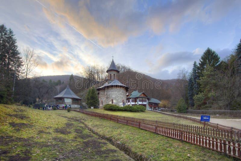 Monastério Prislop em Hunedoara, peregrinação de Romênia foto de stock
