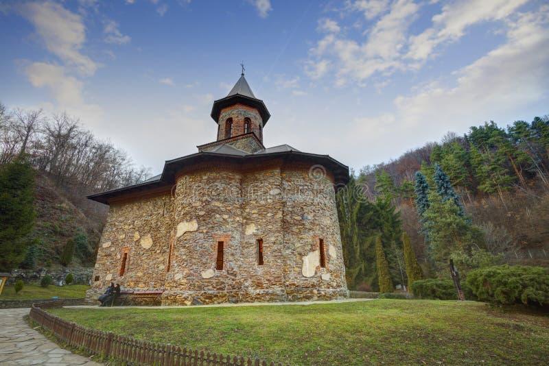 Monastério Prislop em Hunedoara, peregrinação de Romênia fotografia de stock
