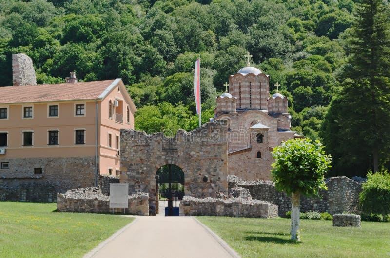 Monastério Ravanica, século XIV, Sérvia foto de stock