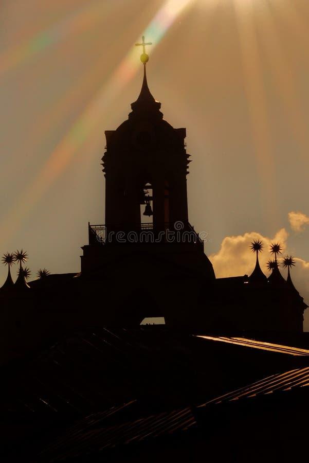 Monastério santamente da transfiguração no centro da cidade histórico de Yaroslavl, Rússia imagens de stock royalty free