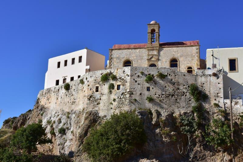 Monastério santamente de Panagia Chrysoskalitissa, Creta fotografia de stock royalty free