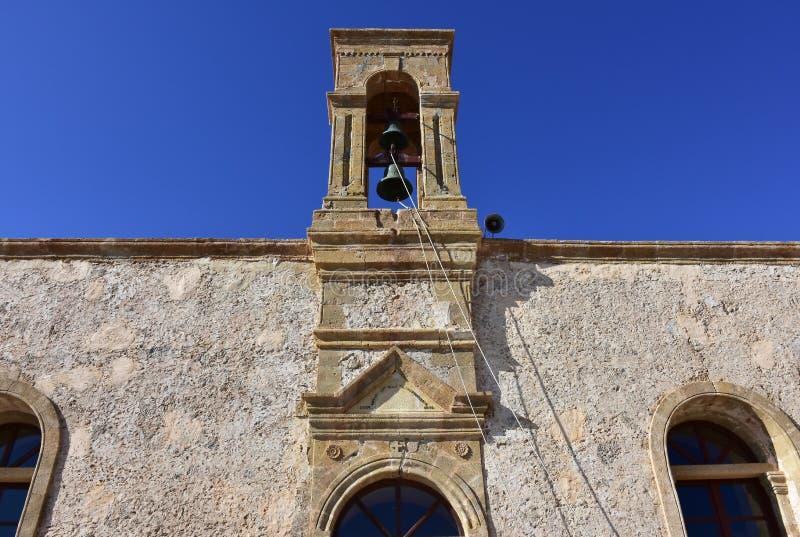 Monastério santamente de Panagia Chrysoskalitissa, Creta fotos de stock royalty free