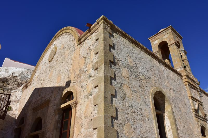 Monastério santamente de Panagia Chrysoskalitissa, Creta imagem de stock