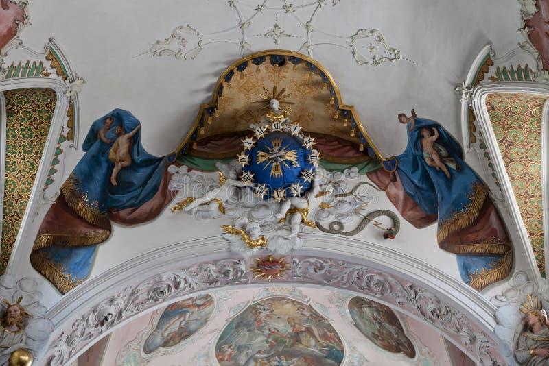 Monastério Schussenried imagens de stock royalty free