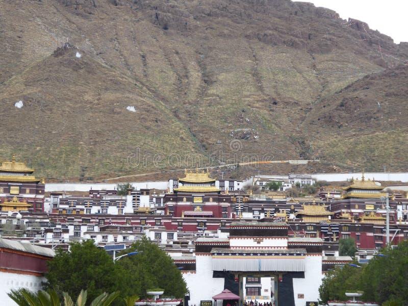 Monastério Tibet de Xigatse/Shigatse Tashilhunpo fotos de stock