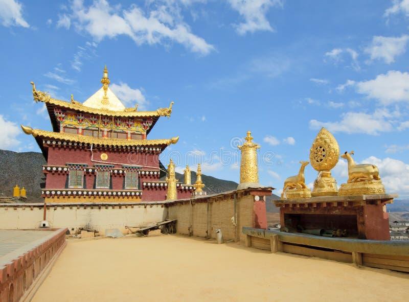 Monastério tibetano de Songzanlin, shangri-la, porcelana fotografia de stock royalty free