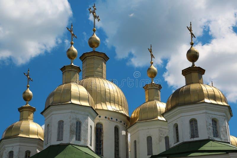 Monastério transversal santamente na cidade de Poltava, Ucrânia fotos de stock royalty free