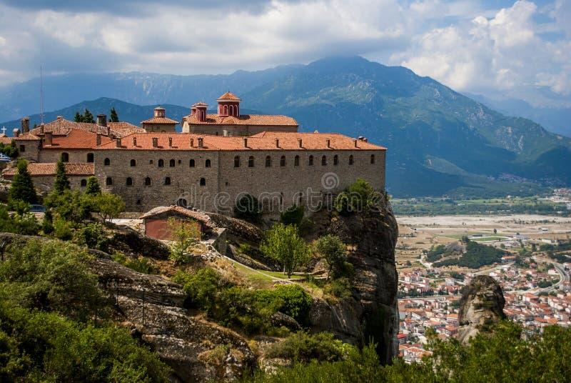 Monastérios de Meteora em Trikala, Grécia fotografia de stock royalty free