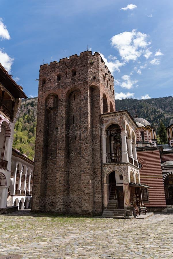 Monast?re de Rila, Bulgarie Le monast?re de Rila est le plus grand et le plus c?l?bre monast?re orthodoxe oriental image stock