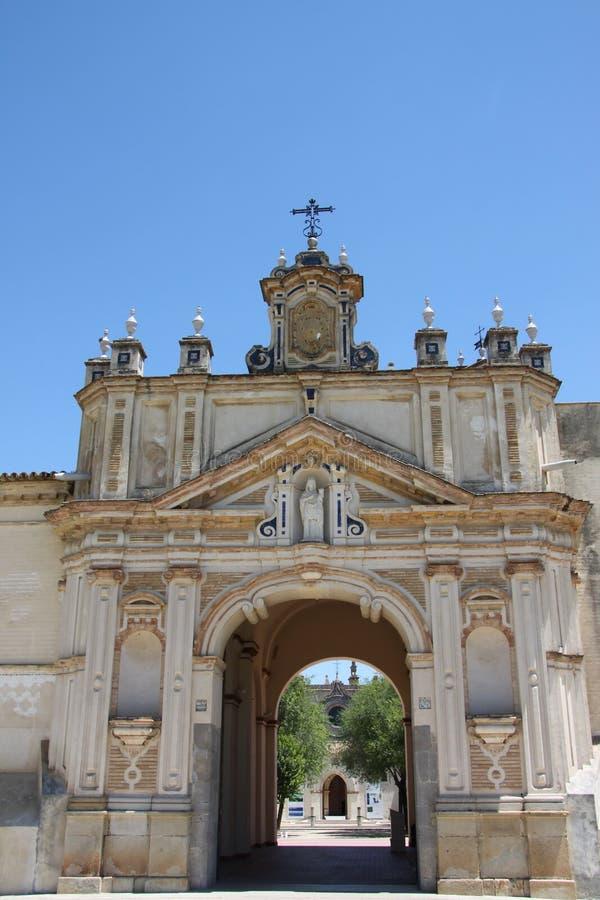 Monast?re de Santa Maria de Cuevas sur l'?le de Cartuja en S?ville photographie stock libre de droits