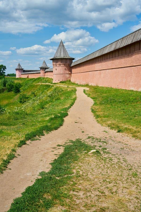 Monast?re de St Euthymius Anneau d'or de la Russie, ville antique de Suzdal, r?gion de Vladimir, Russie photographie stock libre de droits