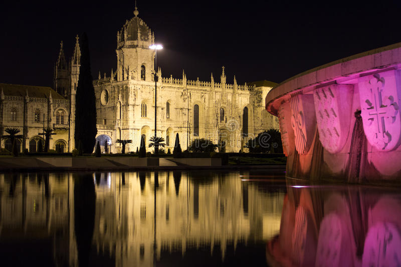 Monasteiro dos Jeronimos at night. Lisbon. Portugal. The Monasteiro dos Jeronimos at night, Lisbon. Portugal royalty free stock image