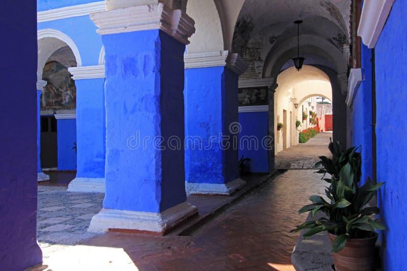 Monaster święty Catherine, Santa Catalina, Arequipa, Peru zdjęcia stock