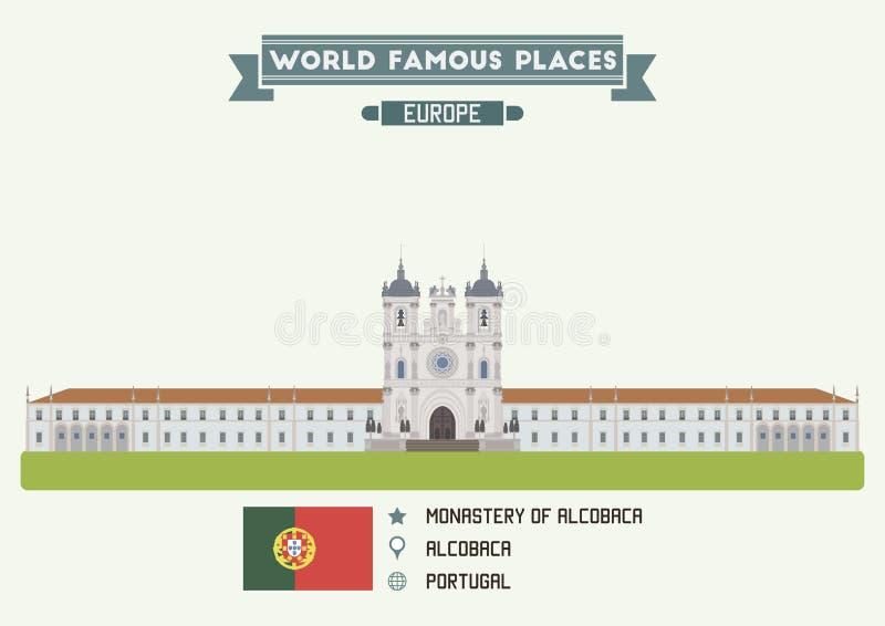 Monaster Alcobaca, Portugalia ilustracji