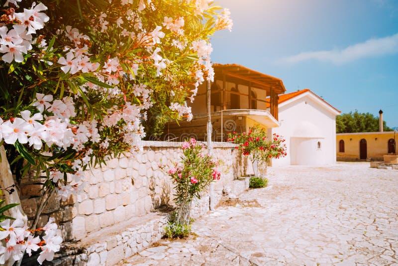 Monaster Kipoureon na Kefalonia wyspie, Grecja obrazy stock