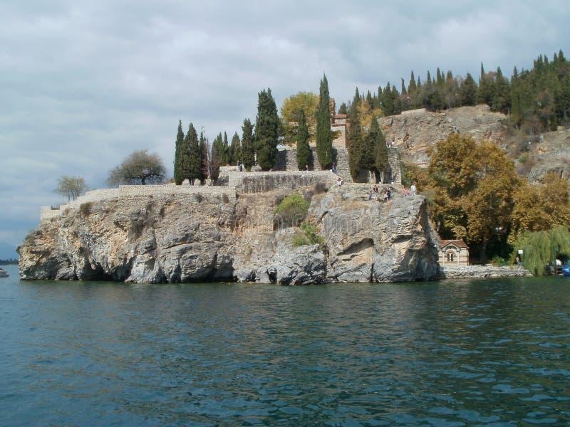Monaster na kamieniu - Ohrid, Macedonia zdjęcie royalty free