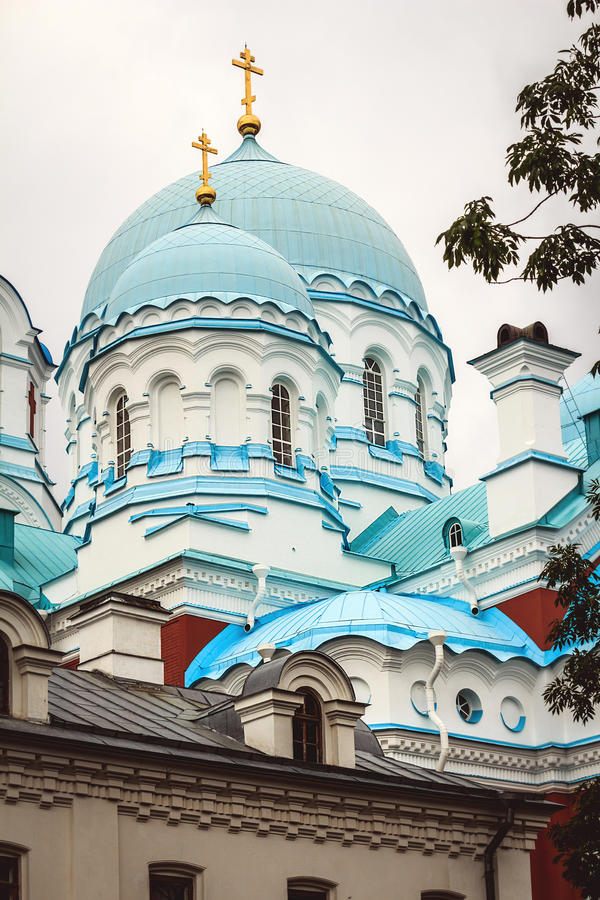 Monaster na Valaam wyspie zdjęcie stock