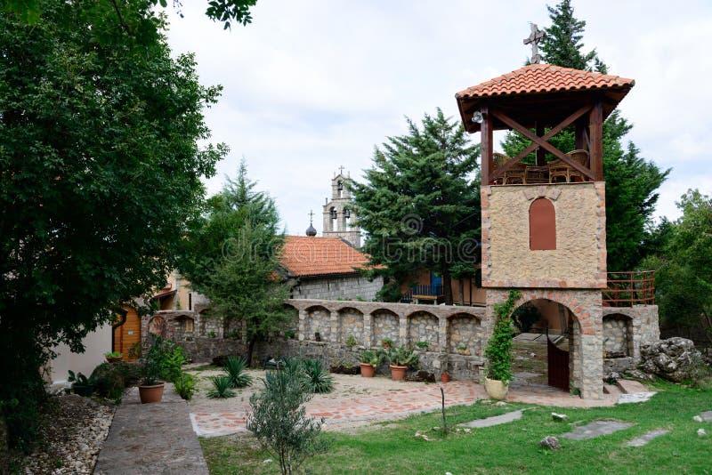 Monaster narodzenie jezusa dziewica w Montenegro fotografia stock