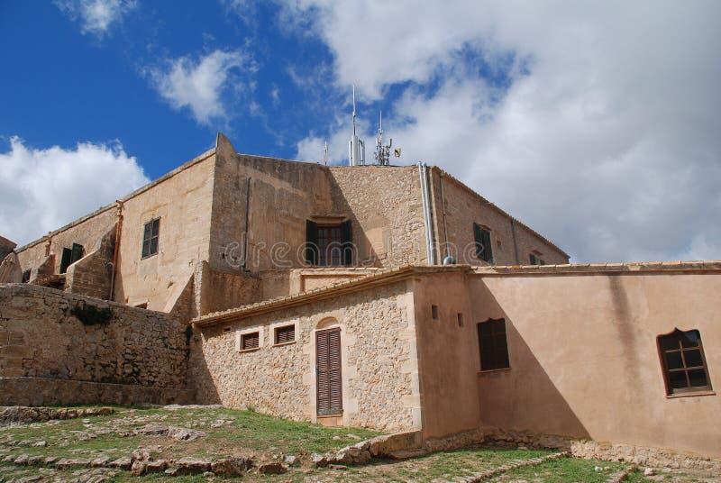 Monaster Puig De Maria na Majorca obraz royalty free