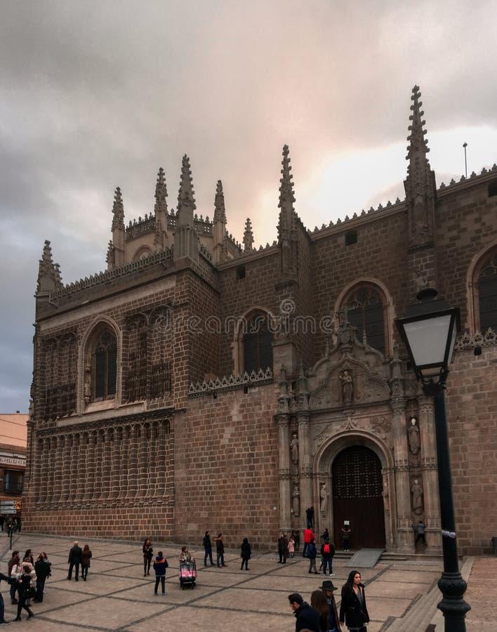 Monaster San Juan De Los Reyes w Toledo, Hiszpania obrazy stock