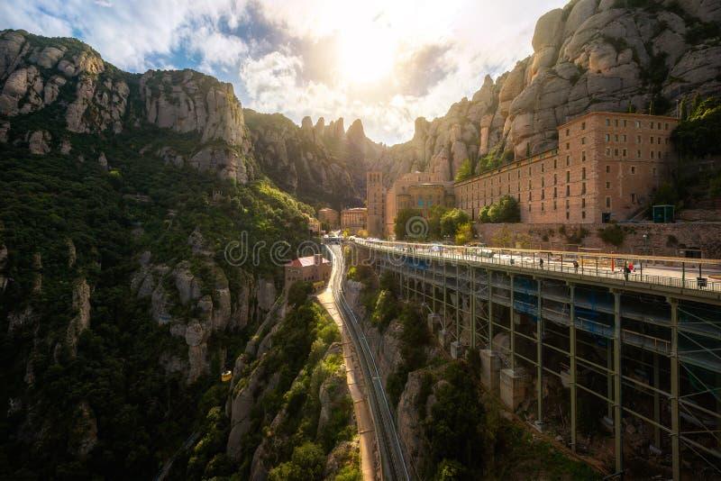 Monaster Santa Maria de Montserrat na górze zdjęcie stock