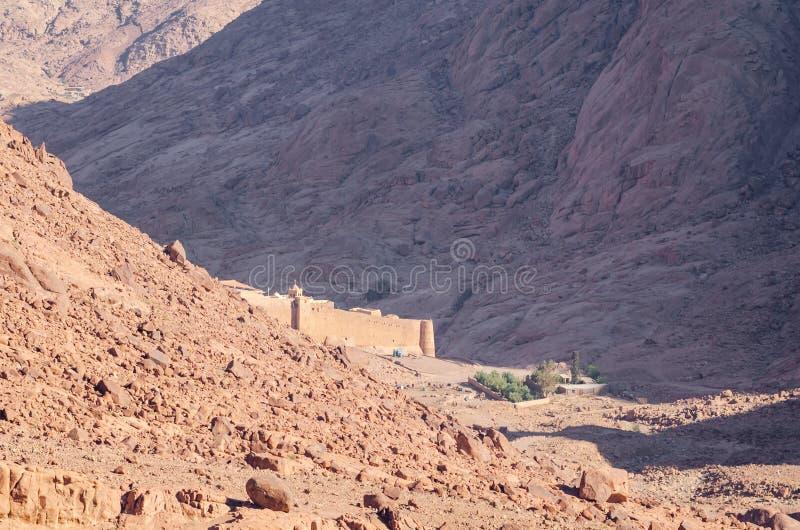 Monaster St Catherine w górach Egipt w półwysep synaj obraz stock