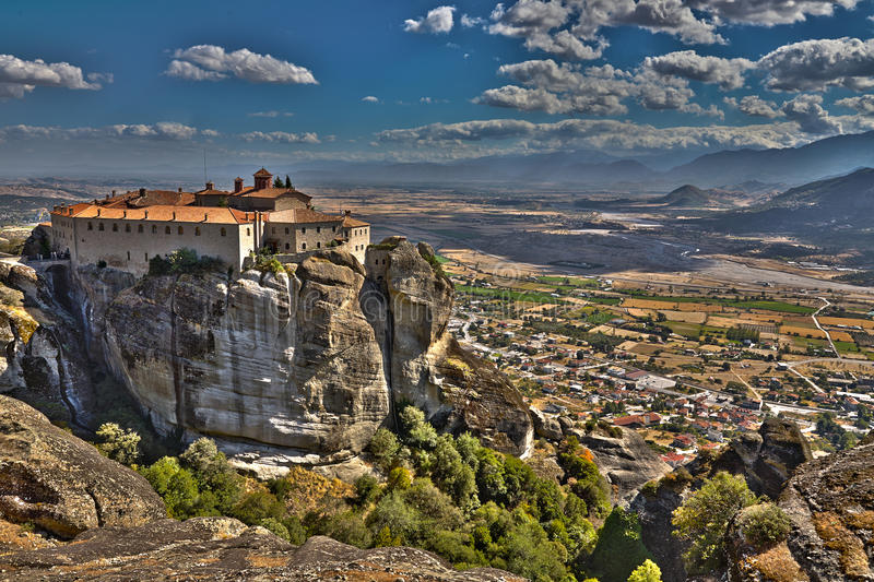 Monaster St Stephen w Grecja obrazy royalty free