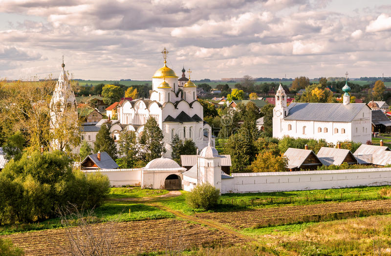 monaster suzdal pokrovsky Russia obraz stock