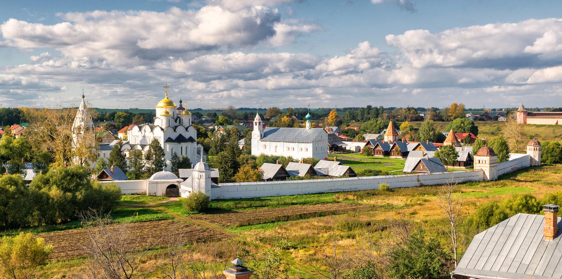 monaster suzdal pokrovsky Russia obrazy stock