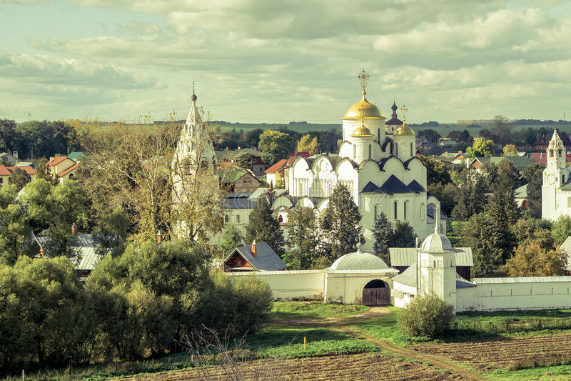 monaster suzdal pokrovsky Russia fotografia stock