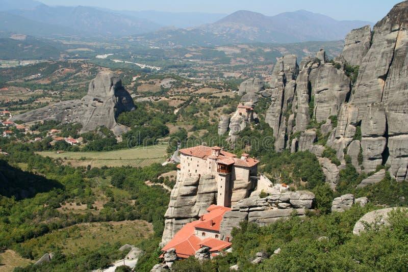 Monasteri delle meteore in Grecia fotografia stock libera da diritti