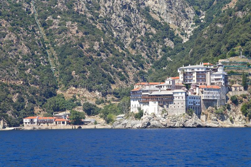 Monasteries on Mount Athos stock images