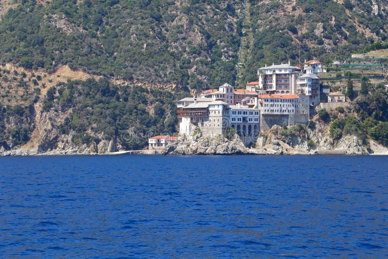 Monasteries on Mount Athos royalty free stock photography