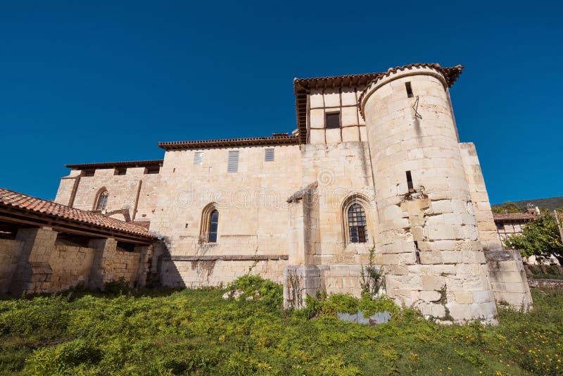 Monasterio antiguo de Valpuesta, origen del lenguage español oficina imagen de archivo