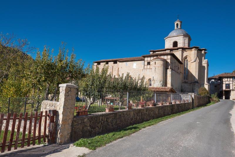 Monasterio antiguo de Valpuesta, origen del lenguage español oficina imagen de archivo libre de regalías