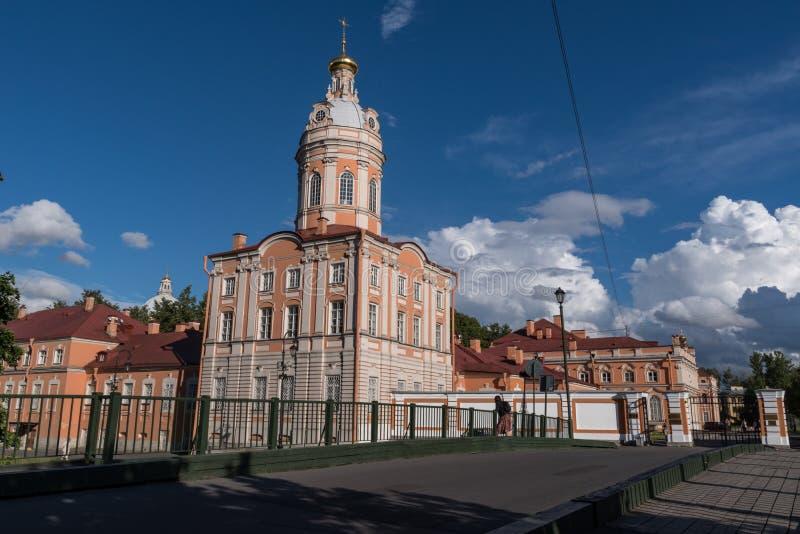 Monasterio de Alexander Nevsky Lavra en St Petersburg fotografía de archivo