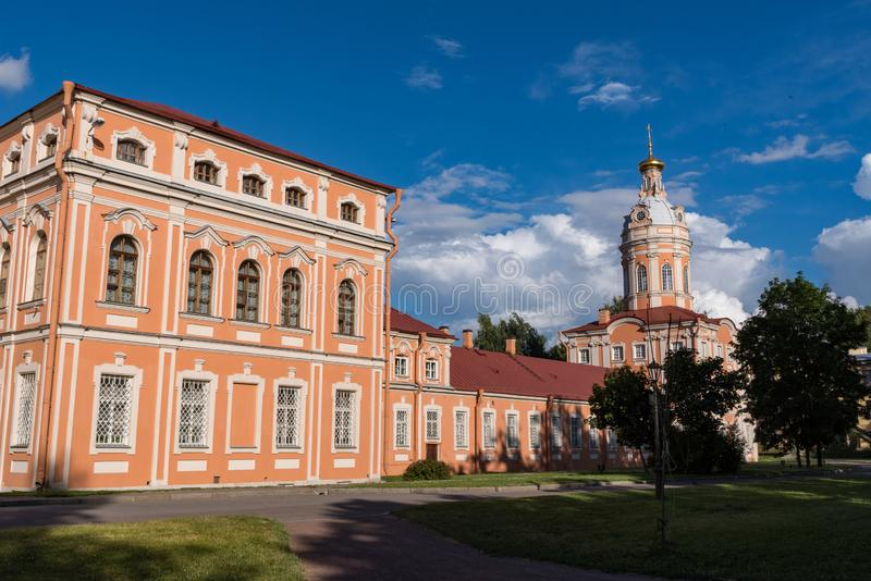 Monasterio de Alexander Nevsky Lavra en St Petersburg fotos de archivo