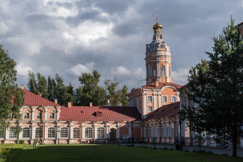 Monasterio de Alexander Nevsky Lavra en St Petersburg, Rusia fotografía de archivo libre de regalías