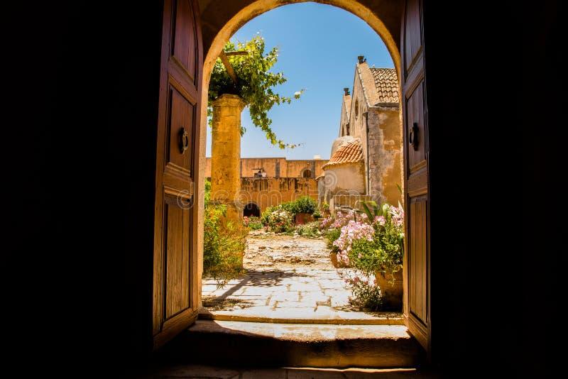 Monasterio de Arkadi, Creta, Grecia imagen de archivo libre de regalías