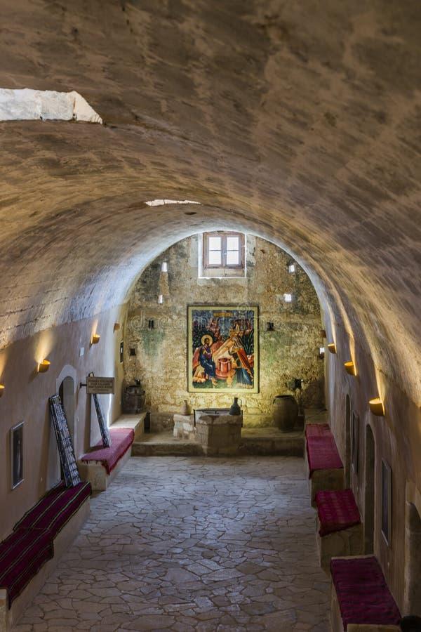 Monasterio de Arkadi crete imagen de archivo