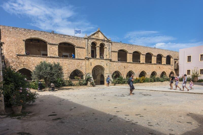 Monasterio de Arkadi crete foto de archivo