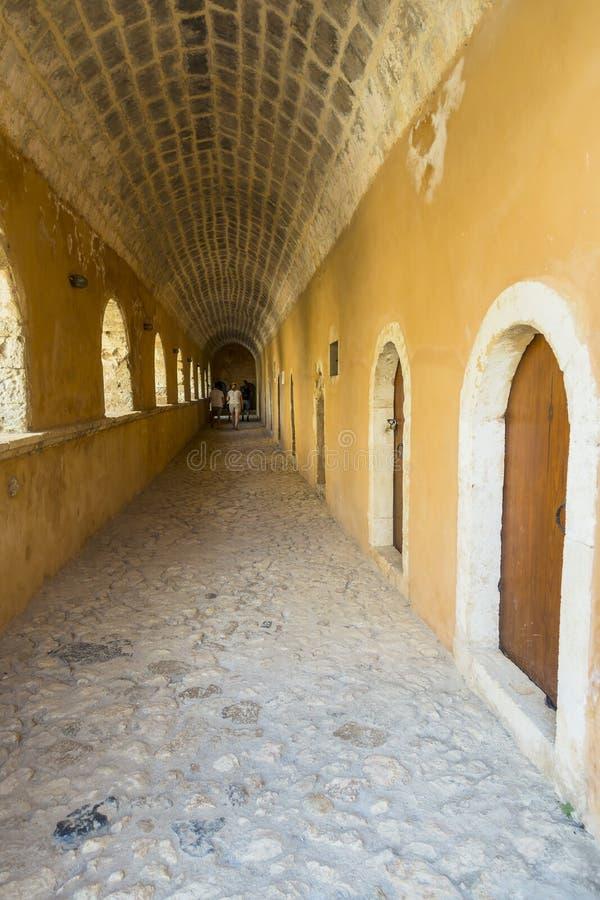 Monasterio de Arkadi crete fotografía de archivo libre de regalías
