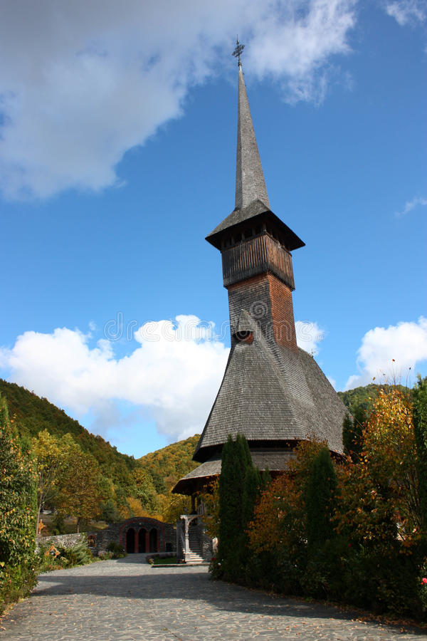 Monasterio de Barsana Wodden imagen de archivo