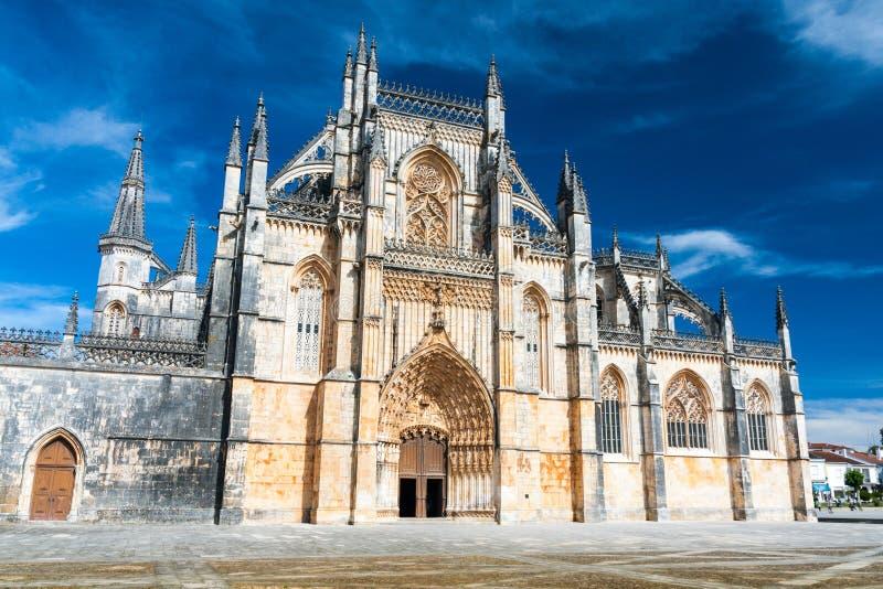 Monasterio de Batalha en el distrito de Leiria, Portugal imagen de archivo libre de regalías