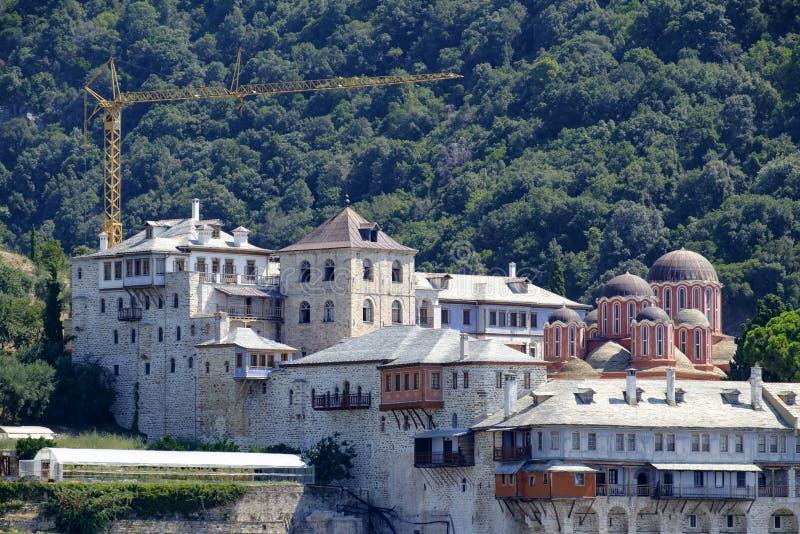 Monasterio de Docheiariou fotografía de archivo
