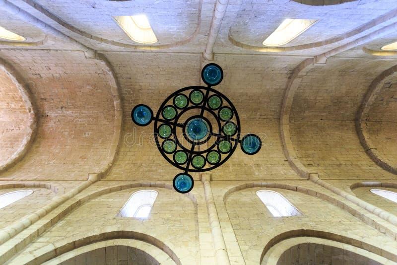 Monasterio de España Poblet, en Cataluña imágenes de archivo libres de regalías
