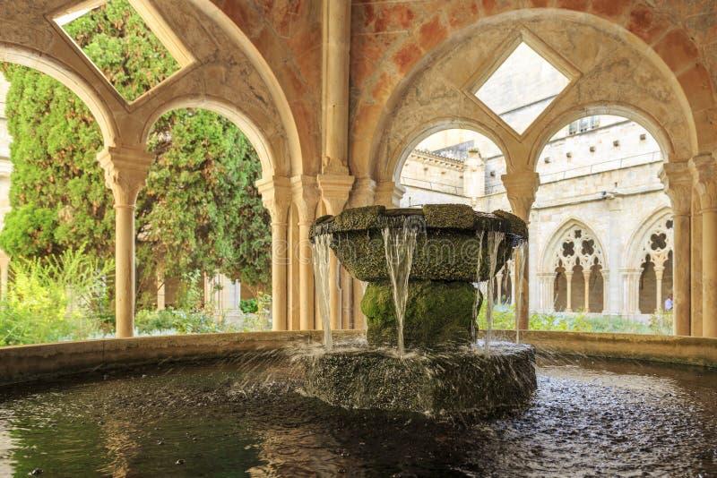 Monasterio de España Poblet, en Cataluña imagen de archivo